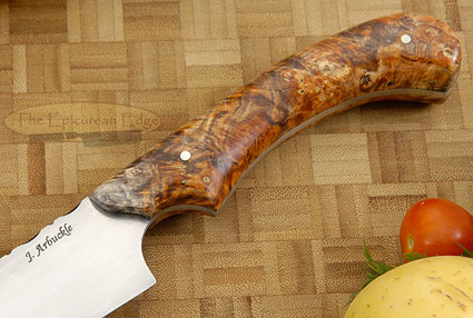 Carving Knife/Slicer (9-1/4 in) with Box Elder Burl