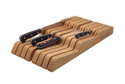 In-Drawer Storage Tray, Wide, Beechwood, 14 Slots (8008)