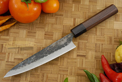 Tojinbo Damascus Slicing Knife - Petit Gyuto - 6 1/3 in. (160mm)