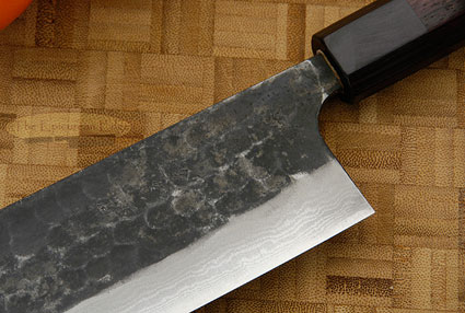 Tojinbo Damascus Chef's Knife - Nakiri - 7-1/8 in. (180mm)