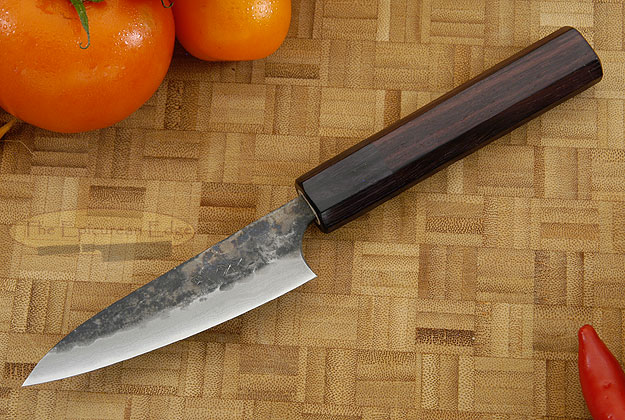 Tojinbo Damascus Paring Knife (Petty) - 3-3/4 in. (95mm)