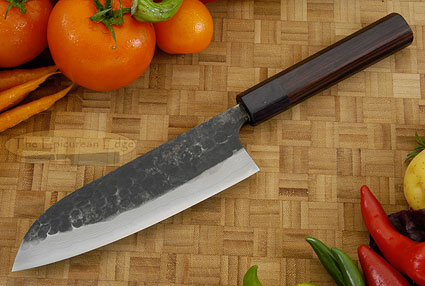 Tojinbo Damascus Chef's Knife - Santoku - 6-3/4 in. (170mm)