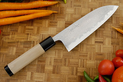 Damascus V2S Chef's Knife - Santoku - 6-1/2 in. (165mm)