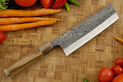 Damascus SLD Chef's Knife - Nakiri - 6-1/2 in. (165mm)