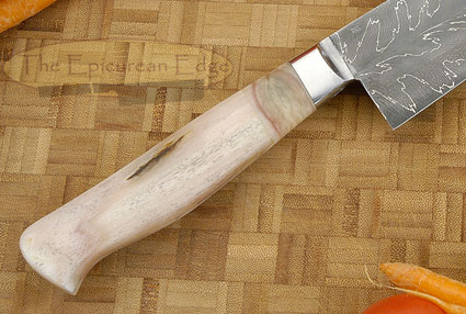 Chef's Knife with Sheephorn and Dragon's Breath Damascus