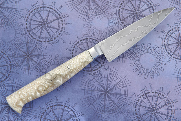 Paring Knife with Musk Ox and Damascus (3-1/4 in.)