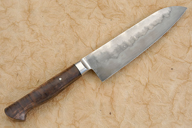 Chef's Knife (Santoku) with Walnut (7-1/8