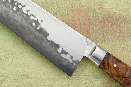 Chef's Knife (Santoku) with Curly Koa (7 3/4