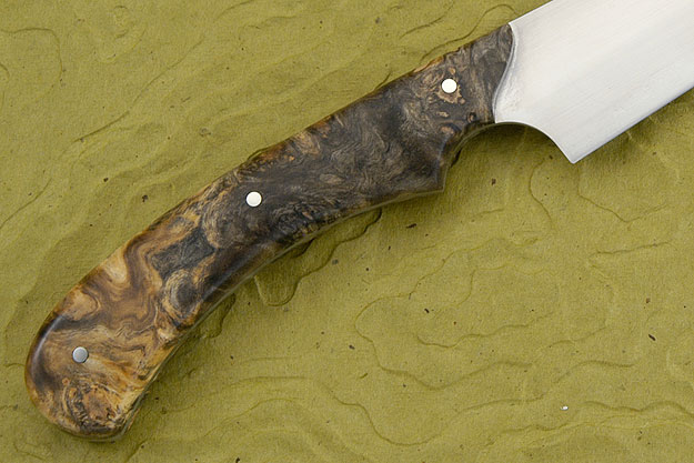 Carving Knife/Slicer (7-2/3 in) with Box Elder Burl