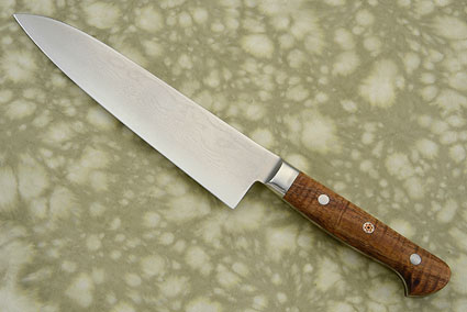 Western Chef's Knife - Gyuto - 180mm (7-1/4 in) - with Koa, Suminagashi