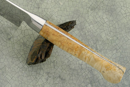 Slicing Knife with Box Elder Burl (5-2/3 in.)