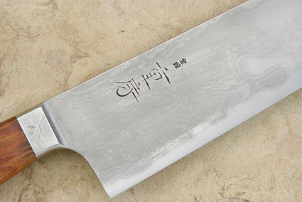Western Gyuto with Sheoak Burl, Suminagashi - 240mm (9-1/2 in)