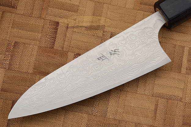 Asai PM Damascus Paring Knife (Petty) - 3-3/4 in. (95mm)