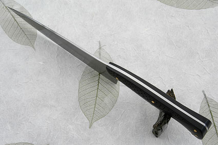 Chef's Knife with Carved African Blackwood (Honyaki) - 7-1/4 in.