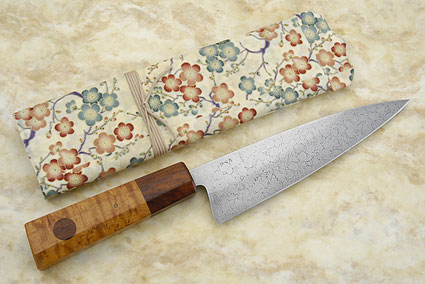 Chef's Knife with Maple Burl and Ironwood - 8 in.