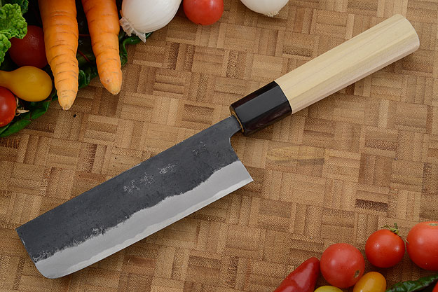 Chef's Knife/Vegetable Cleaver (Nakiri) - 5-1/3 in. (135mm), Traditional Handle