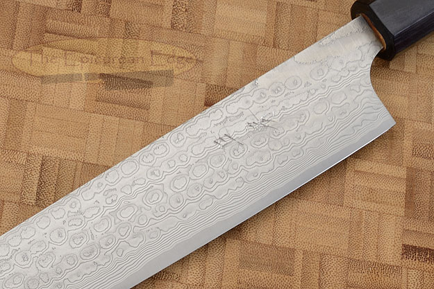 Asai PM Damascus Slicing Knife (Sujihiki) - 10-2/3 in. (270mm)