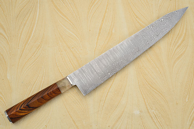 Damascus Chef's Knife with Cocobolo (11-7/8 inches)