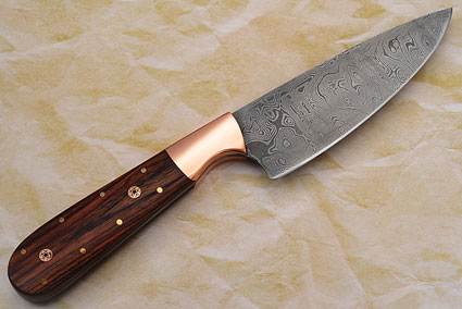 Chef's Knife with Damascus and Ironwood