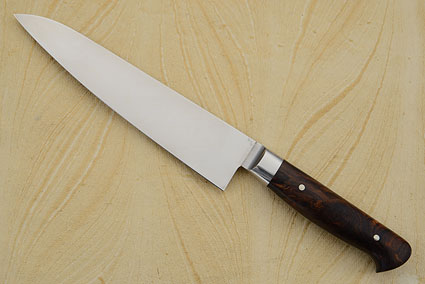 Utility Knife with Stainless Damascus and Rosewood (6-1/4 in)