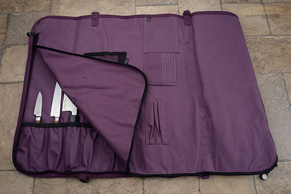 12 Pocket Knife Roll, Plum (2066-12/PL)