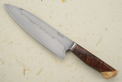 Chef's Knife (7 1/2 in.) with Curly Koa and Box Elder Burl