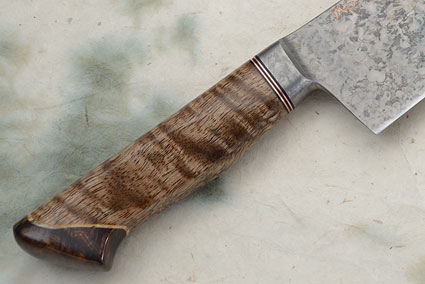 Chef's Knife with Mango Wood, Box Elder Burl and Curly Koa (11-1/4 in.)