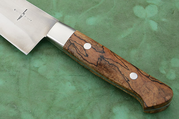 Chef's Knife with Spalted Maple (7 in)