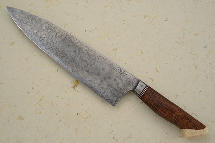 Chef's Knife with Curly Koa and Walrus Ivory (9 3/4 in.)