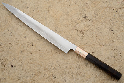 Yanagiba (Honyaki) with Ironwood and Mokume Gane - 270mm (10 2/3 in.)