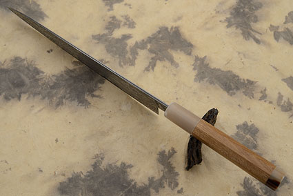Chef's Knife (Gyuto) with Damascus San Mai and Enju Wood (7-1/2 in)