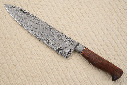 Chef's Knife (9 in) with Feather Pattern Damascus