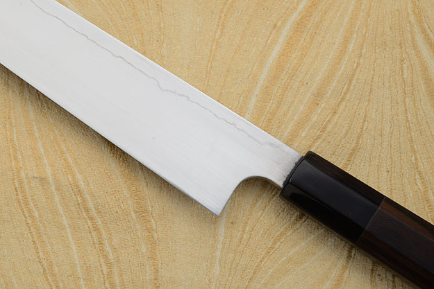 Yanagiba (Kasumi-yaki) with Macassar Ebony and Buffalo Horn - 260mm (10 1/8 in.)