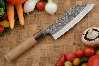 Damascus SLD Chef's Knife - Hakata Santoku - 6-1/2 in. (165mm)