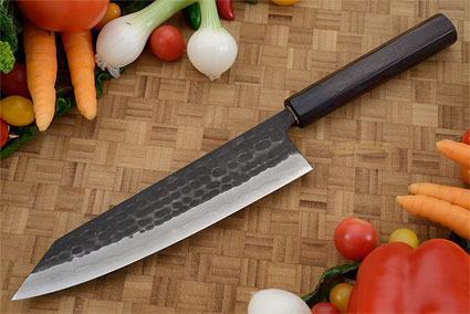 Tojinbo Damascus Chef's Knife - Kiritsuke Gyuto - 8-1/4 in. (210mm)