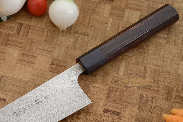 Asai Damascus Chef's Knife - Kiritsuke Gyuto - 8 1/4 in. (210mm)