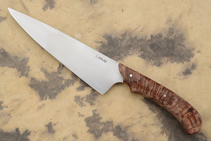 Chef's Knife with Maple Burl (7-1/4 in)