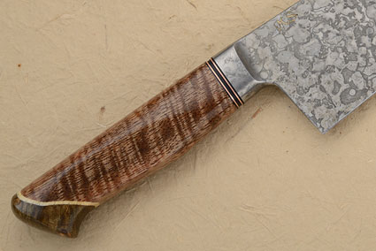 Chef's Knife with Curly Mango, Maple Burl and Box Elder (9.4 in.)