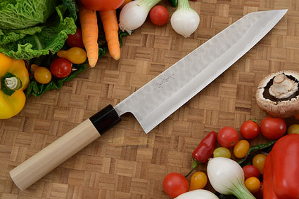 Hammer Finished Chef's Knife - Kiritsuke Gyuto, Traditional - 9 1/2 (240mm)
