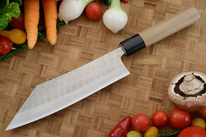 Hammer Finished Chef's Knife - Hakata Santoku, Traditional - 7 1/8 in. (180mm)
