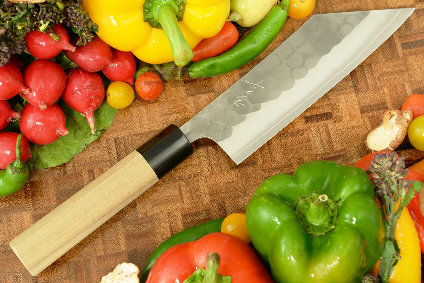 Hammer Finished Chef's Knife - Hakata Santoku, Traditional - 6 1/2 in. (165mm)