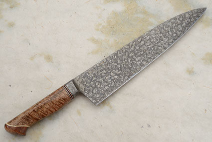 Chef's Knife with Curly Mango, Box Elder Burl and Curly Koa (10 1/2 in.)