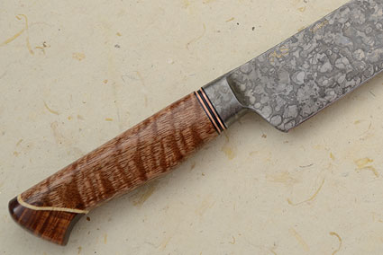 Slicing Knife with Curly Mango, Koa and Box Elder (13-1/2 in)