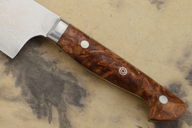 Western Gyuto - 250mm (10 in) - with Amboyna Burl, PM/Suminagashi