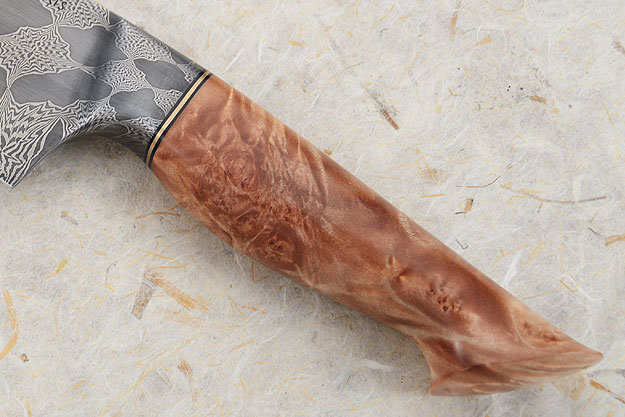 Chef's Knife (8 in) with Mosaic Damascus and Maple Burl
