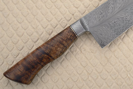 Chef's Knife (9-1/2 in.) with Curly Koa and Feather Pattern Damascus