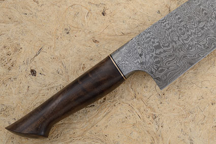 Chef's Knife with Walnut and Damascus (10.9 in.)