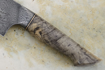 Chef's Knife with Spalted Buckeye Burl and Damascus (9.9 in.)