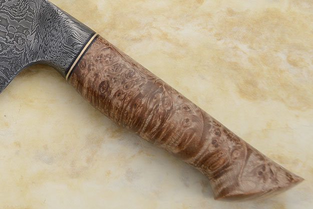 Chef's Knife with Maple Burl and Damascus (9-1/2 in.)