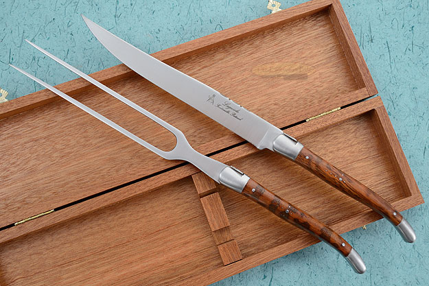 Laguiole Forged Carving Set with Snakewood